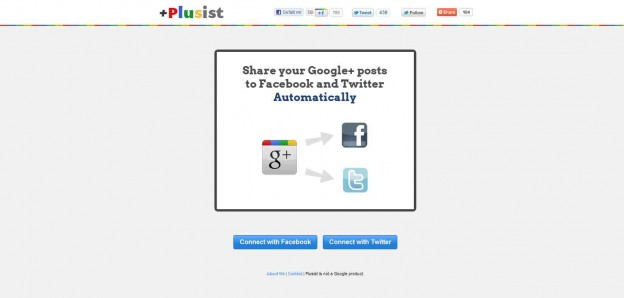 Plusist.com Google to Facebook Google to Twitter