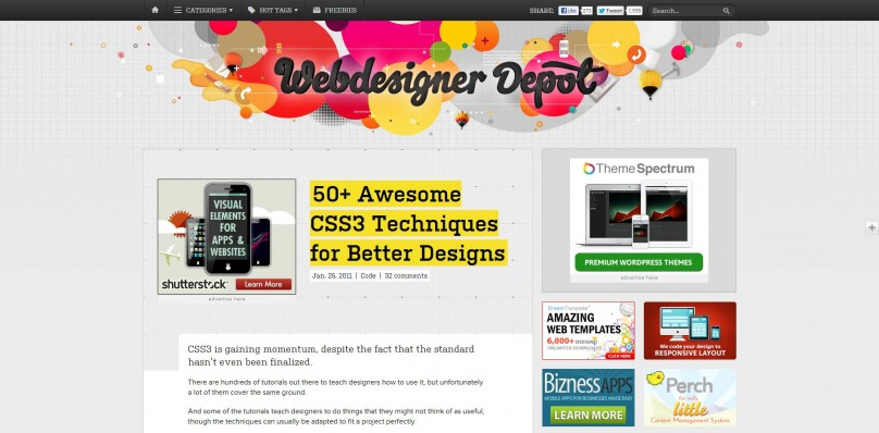 50  Awesome CSS3 Techniques for Better Designs