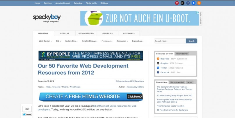 Our 50 Favorite Web Development Resources from 2012