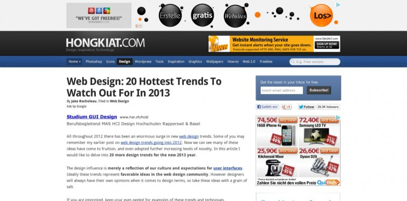 02 Web Design  20 Hottest Trends To Watch Out For in 2013