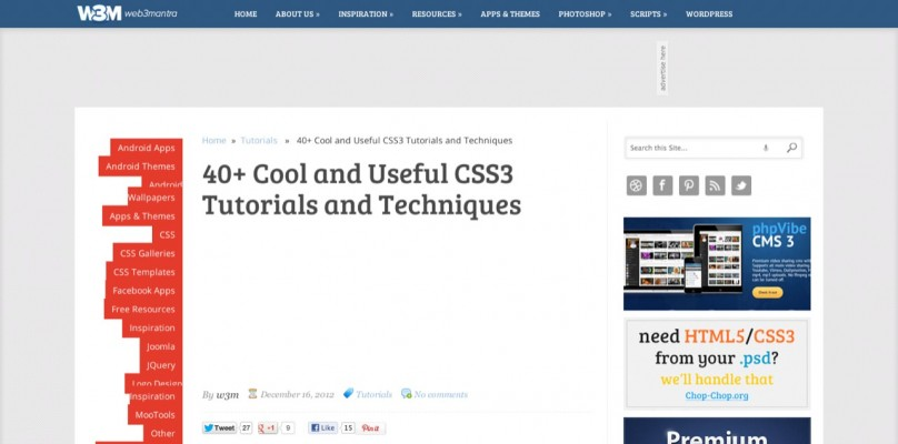 09 40  CSS3 Tutorials and Techniques   web3mantra