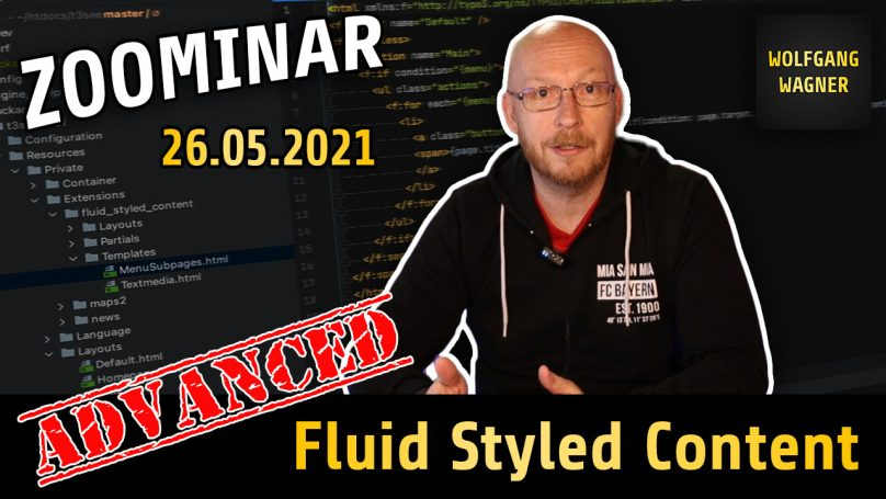 """Zoominar """"Advanced Fluid Styled Content"""" am 26.05.2021"""